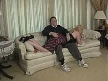Over the Knee Being Spanked
