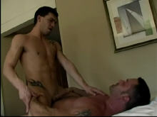 Interracial gay cream pie