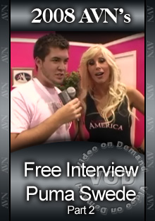 2008 AVN Interview - Puma Swede