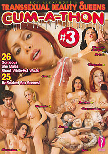 Transsexual Beauty Queens Cum-A-Thon #3